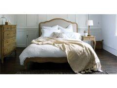 Sienna King Size Bedframe in Weathered Oak