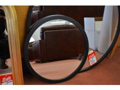 Small Black Round Mirror