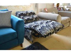 Vento Armless Power Recliner Chair in Chevron Velvet Fabric