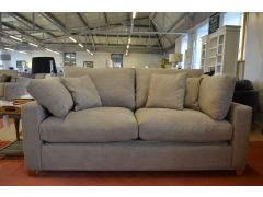 Somerton Sofa Bed 3 Seater Beige Washed Cotton Fabric