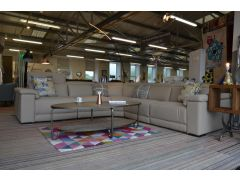 Italian leather corner suite ex display sofas Lancashire half price designer sofa sale clearance outlet store in Clitheroe Ribble Valley near A59 Loom Loft - but much cheaper!