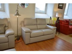 Taylor Two Seater Leather Sofa Grey Leather