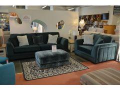 ex display sofas Lancashire green velvet suite