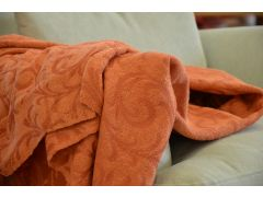 Orange Acanthus Throw Small Brand New Clearance