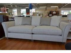 Tiffany 4 Seater Sofa Large Grand Split Beige Fabric Settee
