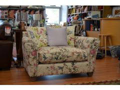 Tiffany Snuggler Chair in Hummingbird Floral Fabric
