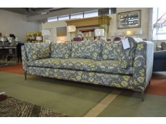 Extra Large Designer 3 Seater Sofa in Grey and Yellow Fabric