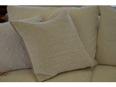 Pair of Large Cream Velvet Cushions Brooklands