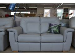 Elliot Three Piece Suite Grey Leather 2 Seater with Power Recliner Chairs