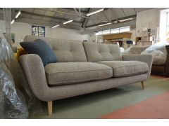 Grey Retro Four Seater Sofa Unique Sample Piece Made in Britain