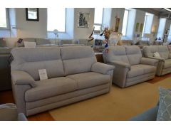 Stanton 3 and 2 Seater Sofas in Pale Grey Soft Fabric