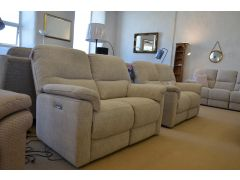 Cotswold two piece fabric suite recliner sofas Lancashire ex display clearance outlet Clitheroe