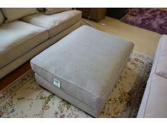 Imogen Large Footstool Grey Fabric Pouffe