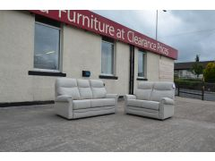 Avon 2 and 3 Seater Sofas with Footstool Two Piece Fabric Suite