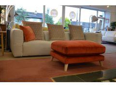 Large Modular Sofa Designer Prototype 4 Seater Grey Fabric