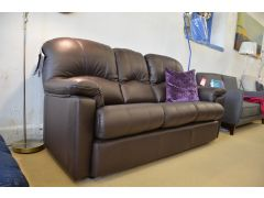 Chloe Three Seater Sofa in Brown Leather 3 Str
