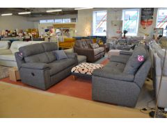 Burford two piece suite fabric sofas with recliners Clitheroe Lancashire