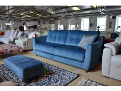 Nancy blue velvet sofas ex display sofa outlet Clitheroe Lancashire