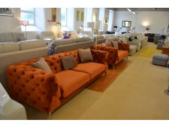Tufty chesterfield sofas Clitheroe Lancashire ex display sofa clearance outlet warehouse