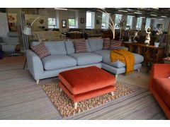 Farnham Chaise Sofa Prototype Extra Large Grey Fabric Chaise