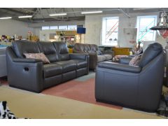 Strauss three piece suite half price ex display recliner sofas with delivery to London
