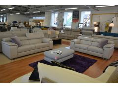 Italian leather sofas fast delivery Lancashire in stock now suite