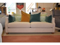 Riley 3 Seater Sofa with Teal & Yellow Cushions