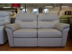 Washington Pair of 2 Seater Leather Sofas All Electric Reclining