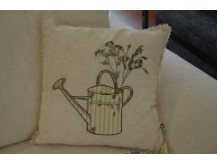 Pair of Watering Can Cushions with Fibre Fillings