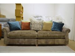 Vintage Ranch 4 Seater Sofa in Leather and Fabric