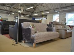Lilac Pewter Sofa Prototype Two Seater with P Shaped Arms