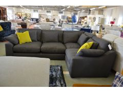 grey fabric corner sofa lancashire ex display sofas furniture showroom A59