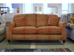 Westbury Large 2 Seater Sofa in Wickham Gold Plaid Fabric