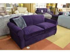 Chilmark 3 Seater Sofa in Luxurious Purple Velvet