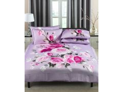 Windsor Duvet Set Kingsize in Purple Floral Design