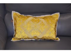 Imperial Ochre Bolster Cushions Matching Set of Two