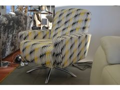Prototype Swivel Chair in Yellow Retro Fabric