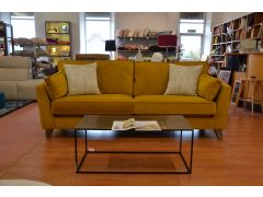 Vance 4 seater sofa yellow velvet settee ex display sofas Lancashire