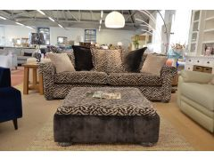 Zebra Pattern Four Seater Sofa and Coffee Table Footstool