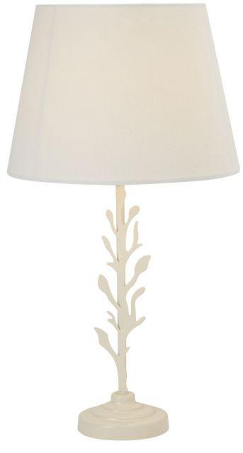 Leafy Table Lamp Cream Metal