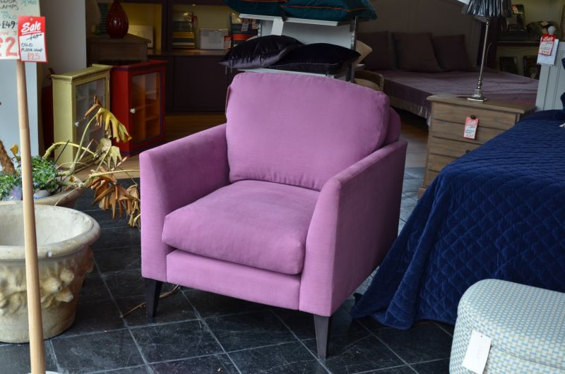 Philo Accent Armchair in Purple Fabric