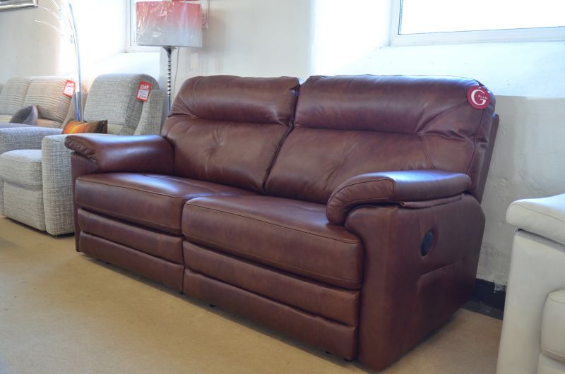 Stanton leather recliner suite