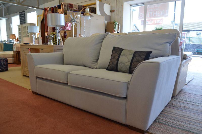Soho Medium Sofa in Pale Blue Grey Fabric