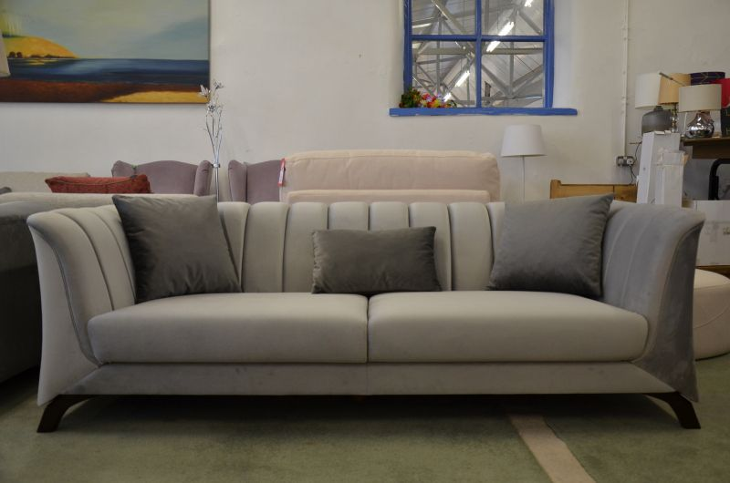 silver art deco sofas designer sofa Clitheroe ex display sofas outlet store Lancashire furniture clearance outlet for high end brands warehouse shop