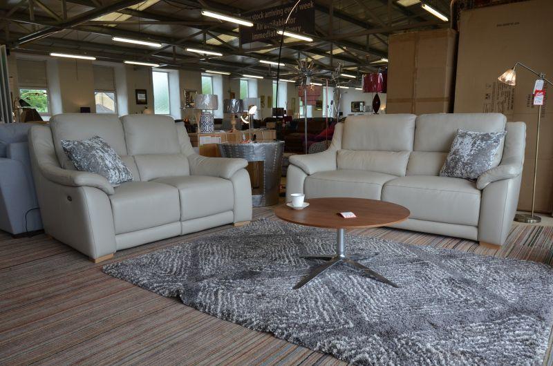 half price Italian leather sofas in Lancashire