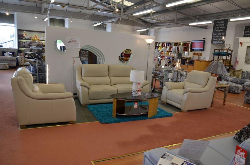 half price designer Italian leather sofas in Lancashire