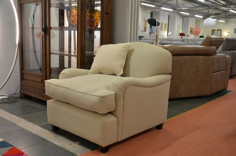 Downton Fabric Armchair now half price at Worthington Brougham ex display furniture outlet in Lancashire
