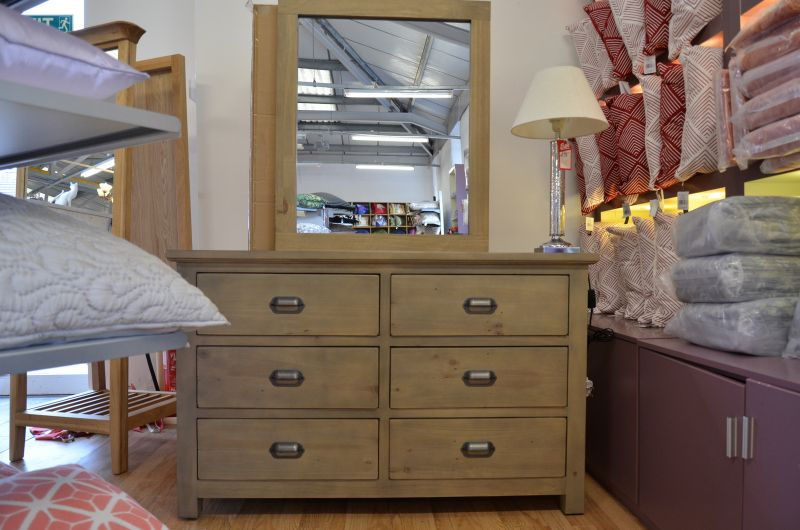 West Coast Bedroom Large Dressing Table with Mirror