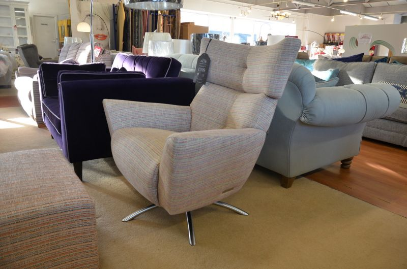 The Lounge Co Jakob Swivel Chair Ex Display