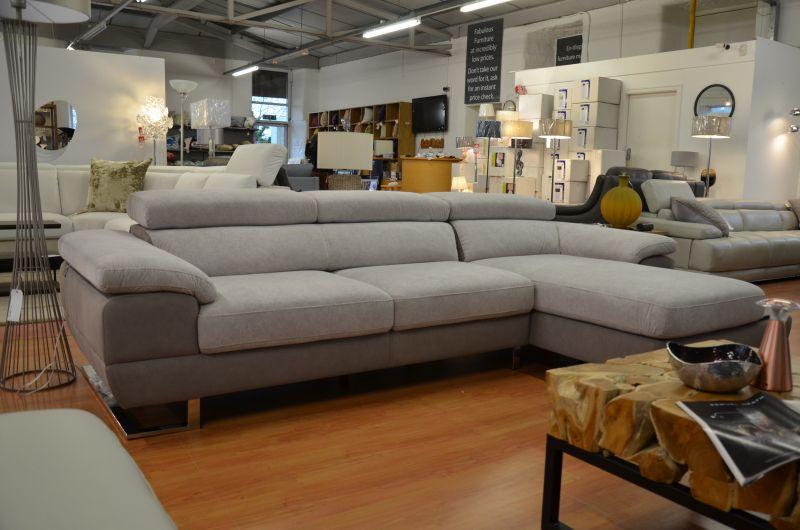 Italian fabric corner suite discount designer sofas Lancashire ex display sofa showroom Ribble Valley high end brands like Minotti Natuzzi Ligne Rossi Italia Living